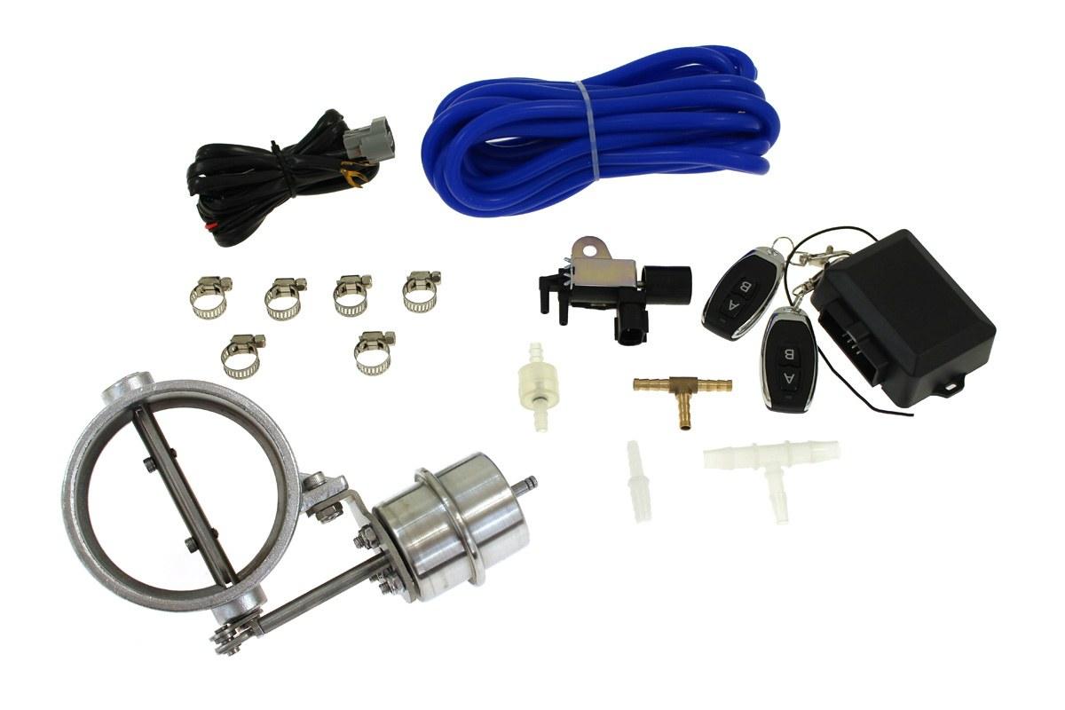 """Zestaw przepustnicy wydechu pneumatyczny 89mm 3,5"""" Vacuum Open - GRUBYGARAGE - Sklep Tuningowy"""